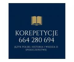 Korepetycje z języka polskiego, historii i wosu - zapraszam! :