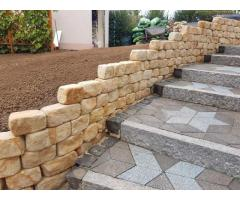 Kamień na skalniak cegła na mur skarpę do ogrodu