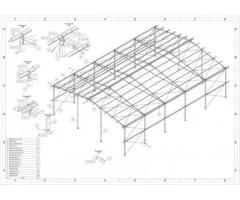 14x20 m. Nowa Konstrukcja stalowa hali z projektem hala wiata magazyn obora kurnik