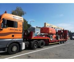 Transport niskopodwoziowy,maszyn,wózków pomoc drogowa koparki wywrotki