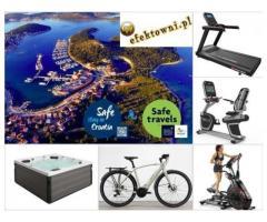 Sprzęt sportowy, meble i akcesoria ogrodowe, wycieczki jachtem
